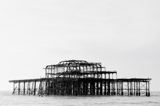52 postcards - week 4, West Pier skeleton