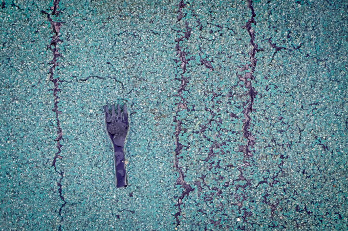 52 postcards - week 41, Fork and asphalt
